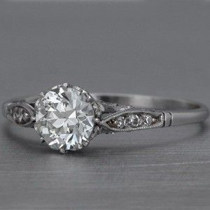 simple and perfect!!! Vintage antique round brilliant engagement ring