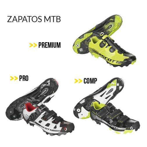 Zapatos #MTB tres opciones en Bikes DF #ScottBikes