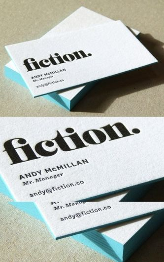 Edge Painted Letterpress | Business Cards Observer