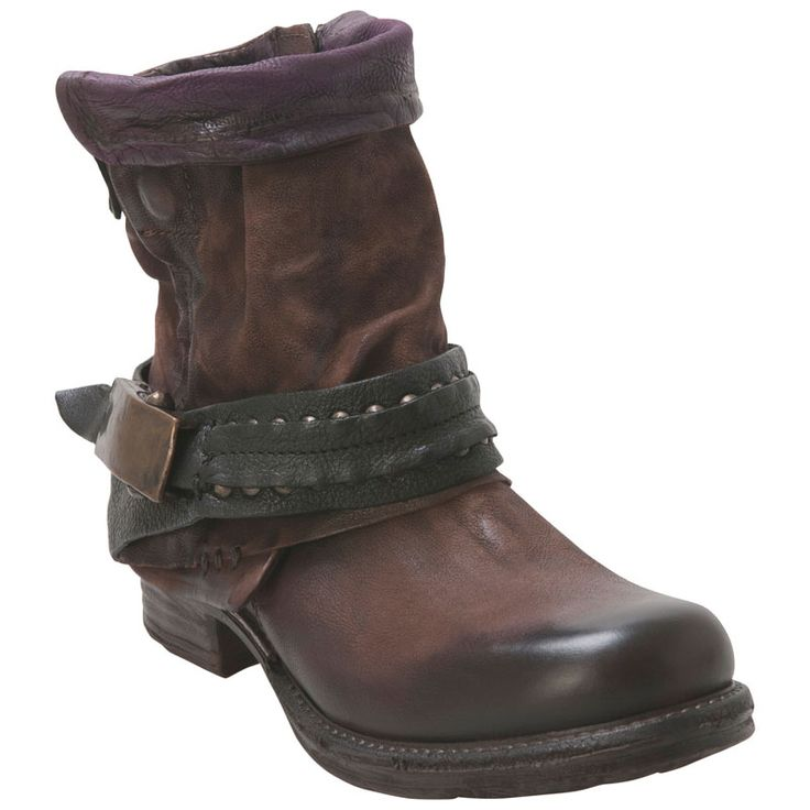 A.S.98 Women's Sebastian 717207 Brown Ankle Boot · Brown Ankle BootsLeather  ...
