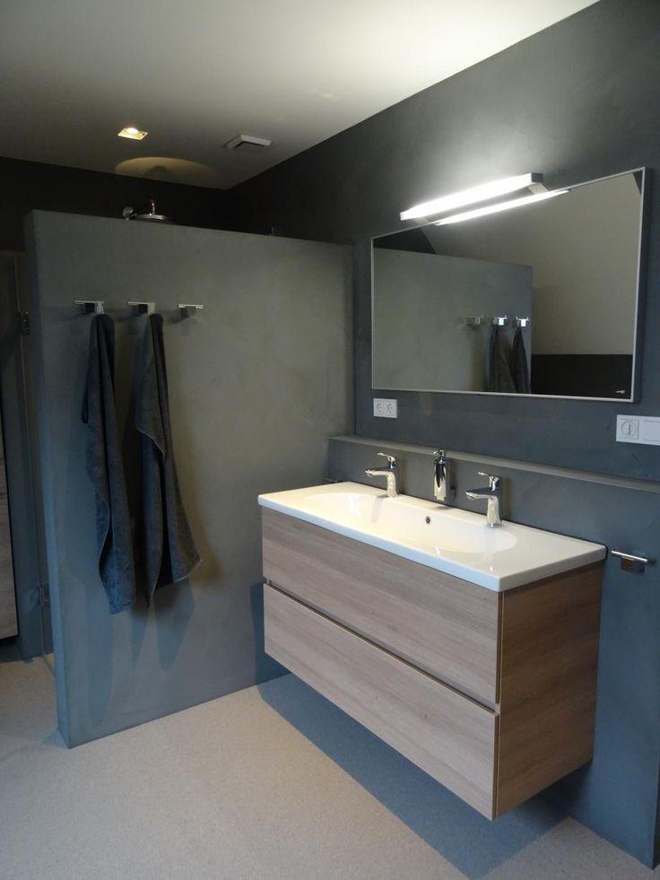 Badkamer/Toilet Beton Cire | Stukadoorsbedrijf Frits Kool te Veenendaal voor wand- en plafondafwerking, pleisterwerk, sauswerk, beton look, frescolori
