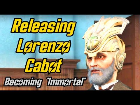 Fallout 4. Setting Lorenzo Cabot free and becoming 'Immortal'. Secret of Cabot House Quest - YouTube