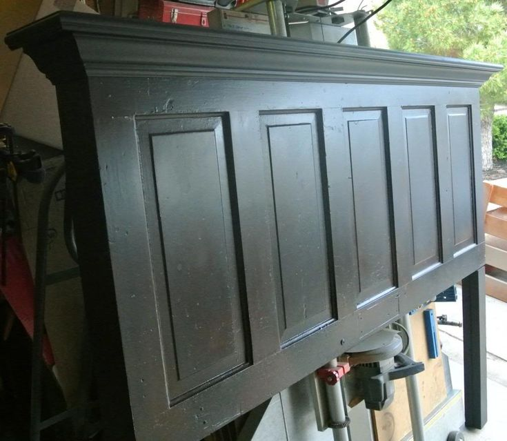 DIY, headboard headboard distressed headboards made from doors old door headboards shabby eclectic re-purpose upcycle chic 5 panel door old door antique door king size queen size full size twin size Vintage Vintage Headboards, barn wood, barnwood - See this image on Photobucket.
