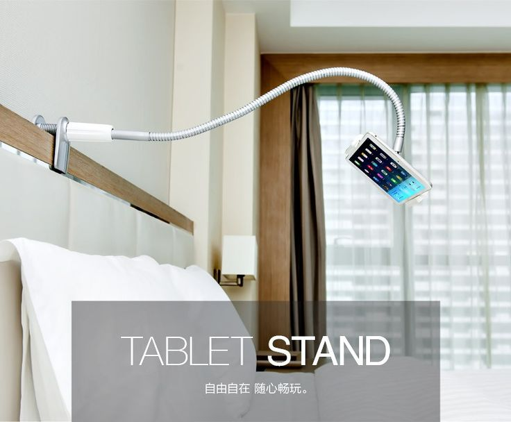 "Universal 360 degree Rotation Tablet PC 7-10 inch Holder Aluminum Alloy Bed 3.5-5.5"" Smartphone Stand for iPad iphone 5/6/7/plus"