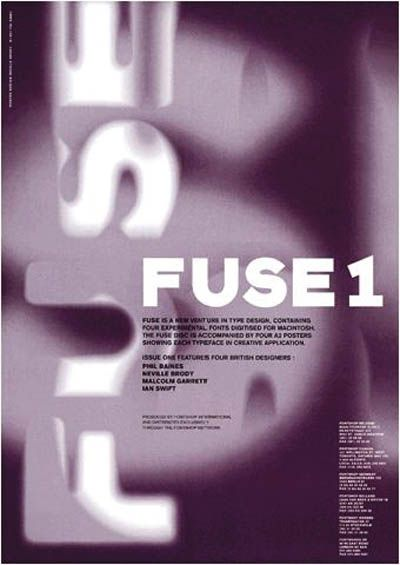 FUSE issue 1 Cover with Neville's typefaces.
