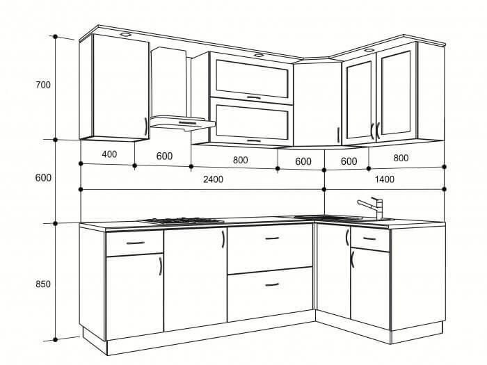 Standard Kitchen Dimensions And Layout Fantasticeng Plans Furniture Design Room