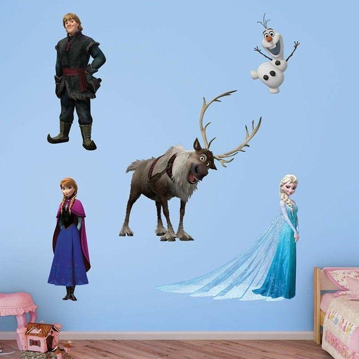 mehrteilige bilder für kinderzimmer mit einer kommposition aus dem film eiskönigin