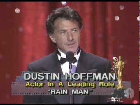 "Dustin Hoffman winning an Oscar® for ""Rain Man"" I love the standing ovation"