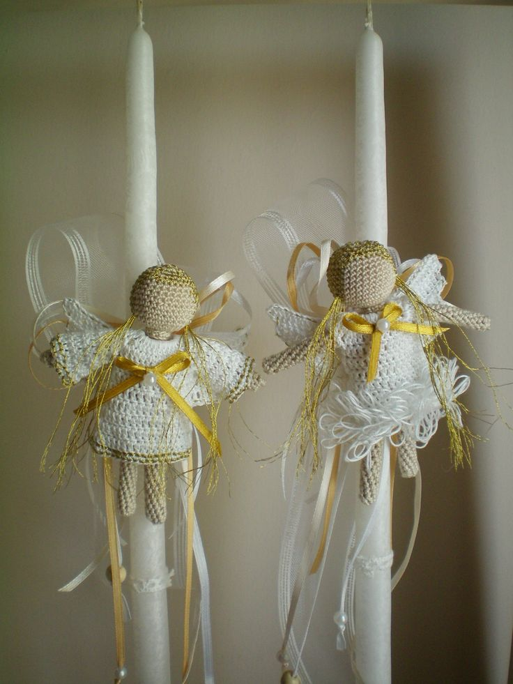 crochet angels for easter candles