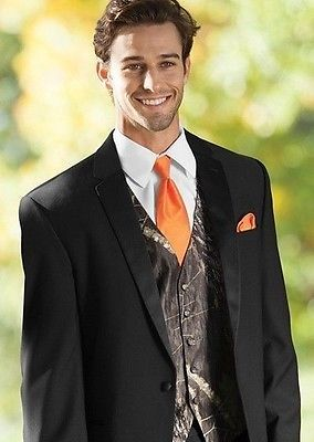 new mens all size mossy oak hunting camo tuxedo vest tie alpine prom wedding set