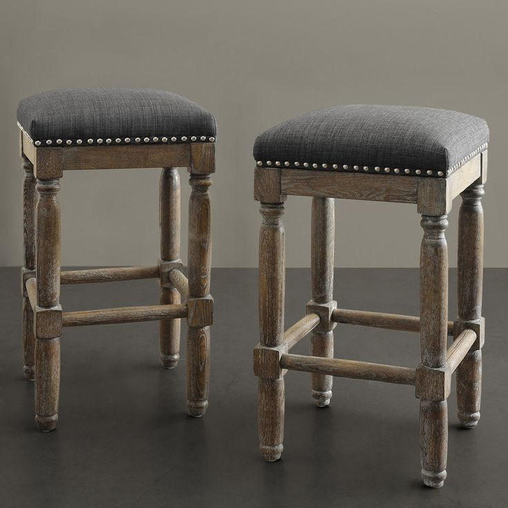 Renate Brown and Grey Counter Stools  Set of 2 Best 25  Upholstered bar stools ideas on Pinterest   Upholstered  . Fabric Covered Counter Height Chairs. Home Design Ideas