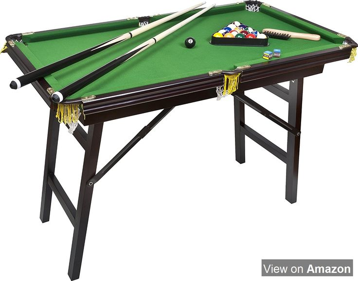 """Bello Games New York, Deluxe Folding Pool Table EXTRA LARGE 44""""Game Table"""