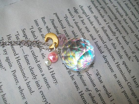 Sailor Moons Silver Crystal inspired necklace by SparksEmporium, $22.00