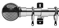 Swish Elements Curzon 35mm Metal Curtain Pole, Chrome