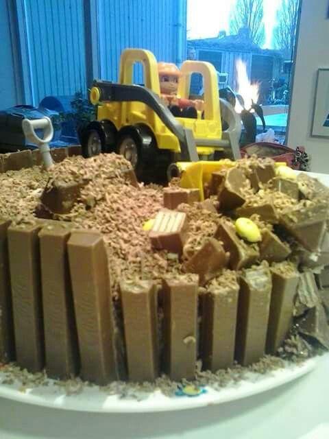 Bulldozer taart 2
