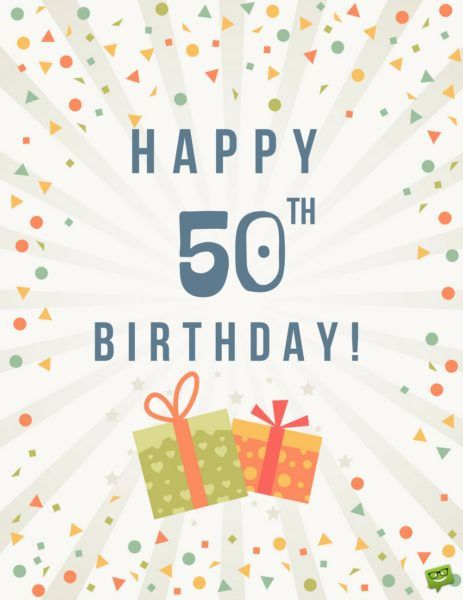 Happy 50th Birthday!