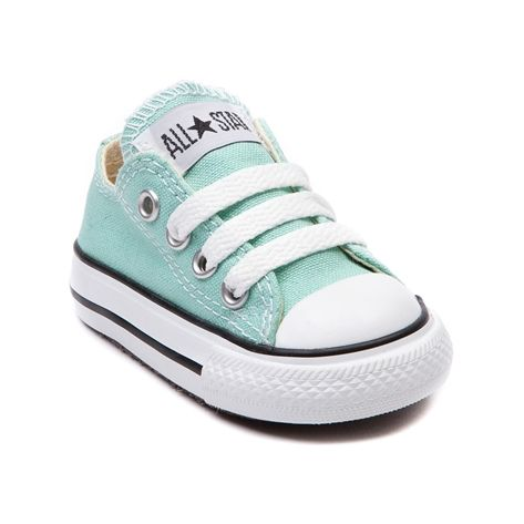 Shop for Toddler Converse All Star Lo Sneaker in Mint at Journeys Shoes. Shop today for the hottest brands in mens shoes and womens shoes at Journeys.com.Classic Converse Lo Top for the younger courtsters. You can never be too old or young for the originals. The smaller styles still feature the famous durable canvas upper and rubber sole like only Converse can do it.