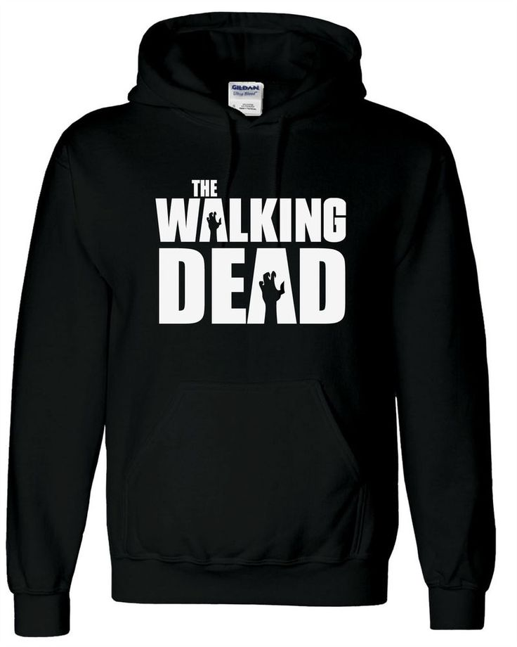 Black The Walking Dead Adults Hoodie, Unisex, Mens, Hoody, Sweatshirt, Zombies #Gildan #Shirts