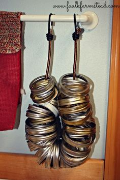 Easy Mason Jar Ring Storage :: Faulk Farmstead