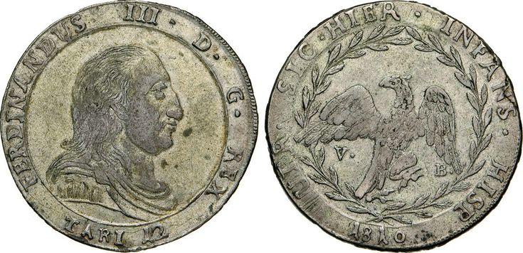 NumisBids: Numismatica Varesi s.a.s. Auction 65, Lot 546 : PALERMO - FERDINANDO III (1759-1816) 12 Tarì 1810. Sp. 138/139 ...