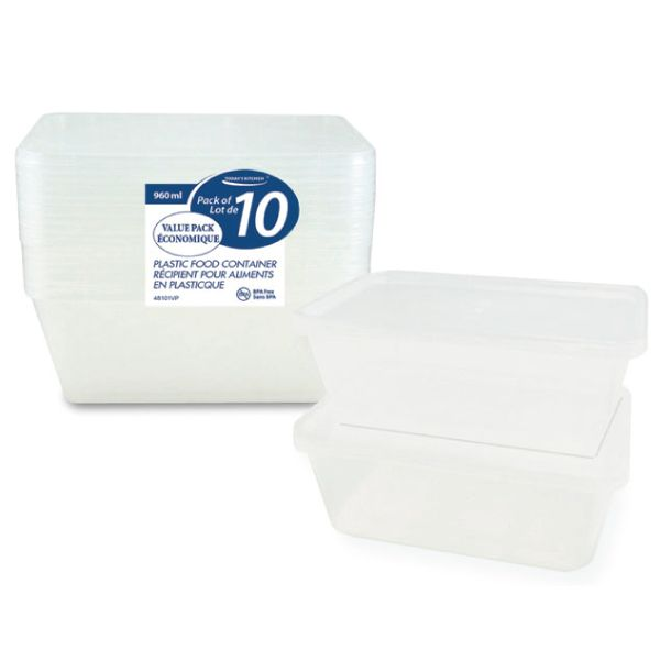 HAPPY Storage - Plastic Container 10 pieces for $5  Langham Mall, Unit 2333 & 2335 Level 2, 8339 Kennedy Road, Markham, Ontario, Canada  www.OneOfAKaIND.com