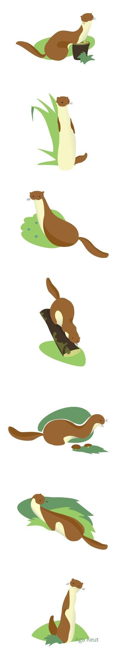 Weasela by AgaReut:  http://agareut.deviantart.com/art/Weasels-351701299?q=gallery%3AAgaReut%2F41692070&qo=0