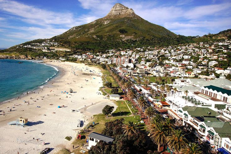 Stunning views of Camps Bay beach and Table Mountain at the Marly Boutique hotel in Cape Town, South Africa.