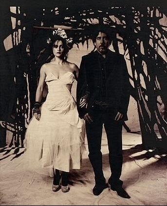 Helena Bonham Carter and Tim Burton.