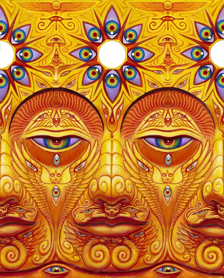ŚŪNYATĀ [noun] (Sanskrit, also shunyata; Pali: suññatā), a Buddhist term that is translated into English as emptiness.  Art Alex Grey