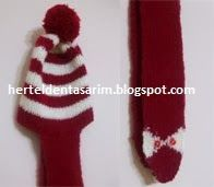 beret with scarf