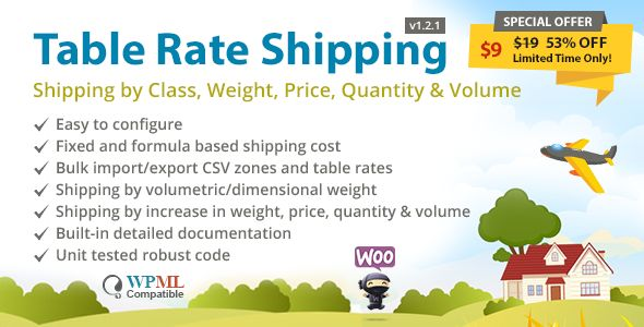 Table Rate Shipping by Class, Weight, Price, Quantity & Volume for WooCommerce by Kahanit http://bit.ly/2i4Heaa