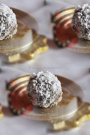Trufe de nuca cu rom, o reteta de desert delicioasa, extrem de usor de facut, cu ingrediente la indemana, un dulce perfect pentru orice sarbatoare