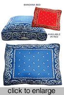 BANDANA Dog Bed--I would DIY this one!