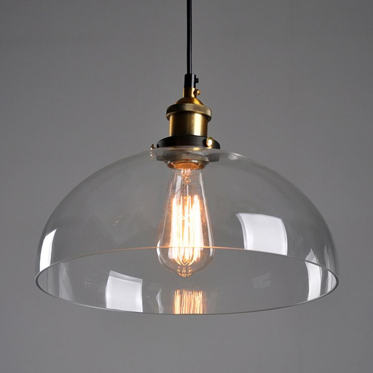 ==> [Free Shipping] Buy Best Antique DIY Ceiling Lamp Crystal Clear Glass Cover Pendant Lighting Edison Bulb Online with LOWEST Price | 32815060813