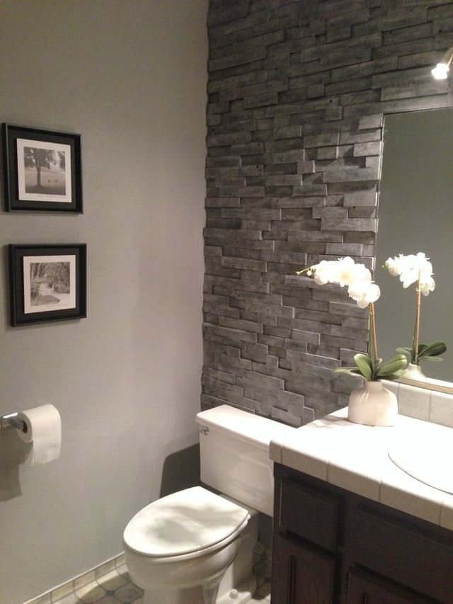 best 25+ bathroom accent wall ideas on pinterest | toilet room