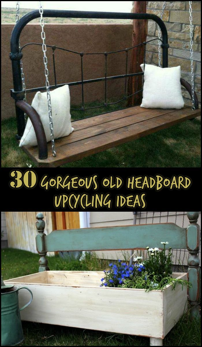 Here 39 s a collection of ideas on how to recycle and for Recycled headboards