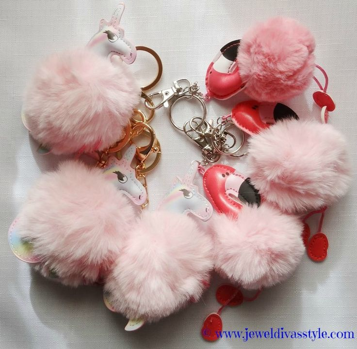 JDS - I've gone a little pom pom crazy this year and bought these awesomely cute flamingo and unicorn keyrings.