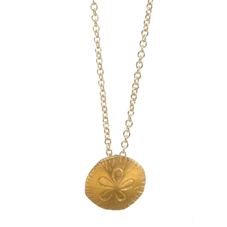 For GMA godmother sand dollar necklace, gold dippedgodmother sand dollar necklace, gold dipped