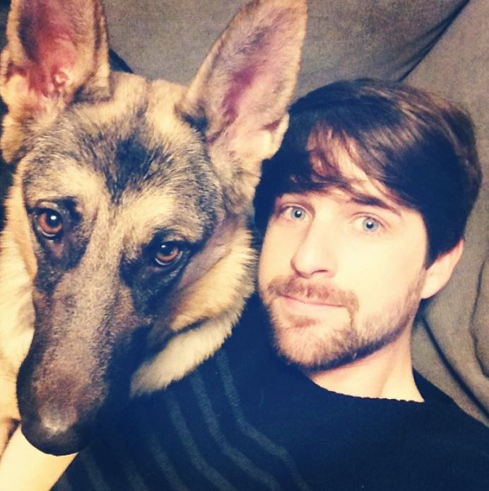 Photo of Ian Hecox & his  Dog Daisy