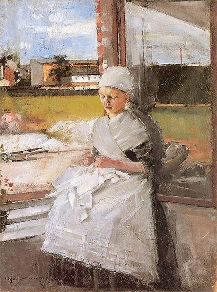 Polish Artist Olga Baznanska, Bretonka, 1889  Bretonka 1889. Olej na płótnie. 63,5 x 47,5 cm. Własność prywatna.