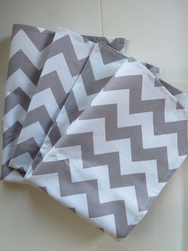 Chevron Cloth Napkins in Grey. $18.00, via Etsy.