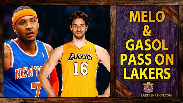 Lakers Rumors: Carmelo Anthony, Pau Gasol Pass On Lakers  Hard core hoops fan? Let's connect!! •	Check out all my latest blog posts from both my sites:  o	http://slapdoghoops.blogspot.com,   •	Follow me on Twitter  o	http://www.twitter.com/slapdoghoops •	The same goes for my Google+ page; add me to your circles  o	https://plus.google.com/+SlapdoghoopsBlogspot/posts  •	Finally, do me the honor and like my Official Facebook Page:  o	https://www.facebook.com/slapdoghoops
