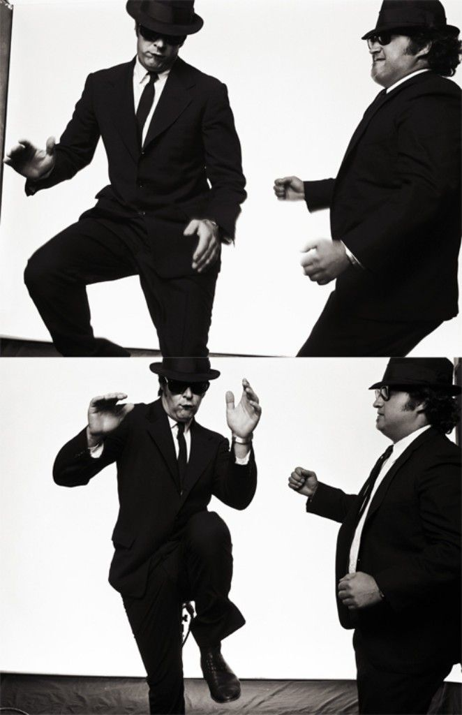 """The Blues Brothers ~1980 American musical comedy film directed by John Landis and starring John Belushi and Dan Aykroyd as """"Joliet"""" Jake and Elwood Blues, characters developed from the The Blues Brothers musical sketch on the NBC variety series Saturday Night Live."""