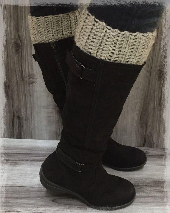 Reversible Crochet Boot Cuffs Ladies by AngiesKnottyCreation