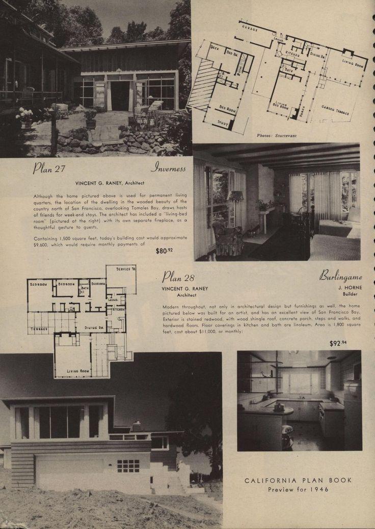 347 best VinTagE HOUSE PlanS1940s images on Pinterest Vintage