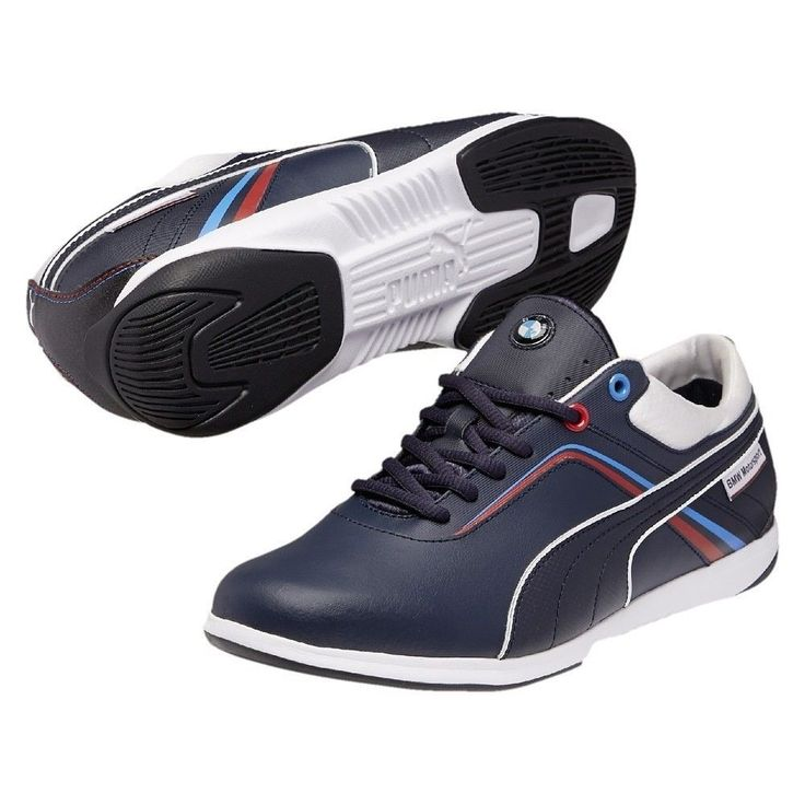 NIB MENS PUMA BMW MS IGNIS IGNITION BLUE WHITE ATHLETIC FASHION SHOES Sz 9