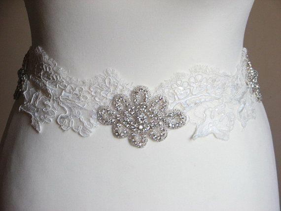 Marco de marco de marco marfil encaje pedrería boda marco marco novia damas de honor marco marfil encaje Faja de encaje vestido de boda accesorio de encaje