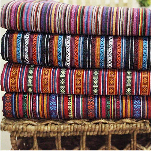 2015 chaude, polyester/coton tissu, ethnique, décoratif tissus pour housse de canapé, coussin, chiffons, rideaux, vente pour mètre, largeur 1.5 M