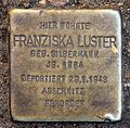 Stolperstein Berlepschstr 4 (Zehld) Franziska Luster.jpg