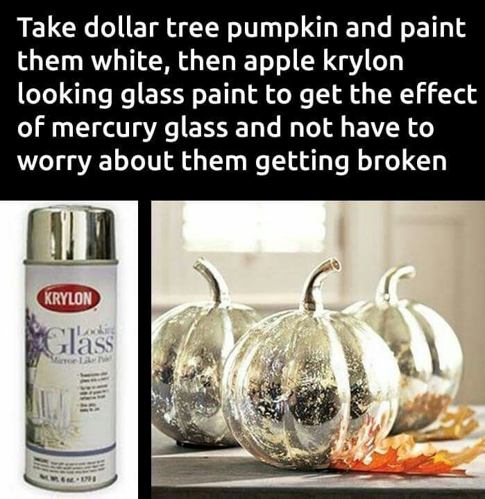 Faux mercury pumpkins you don't have to worry about breaking :-)